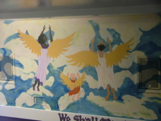 Mural at Flyaway Church