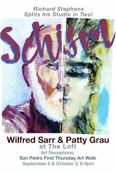 Wilfred Sarr and Patty Grau show card (front)